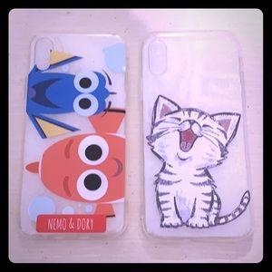 Accessories - iPhone X Cute Cat & Nemo Dory Clear Case Covers